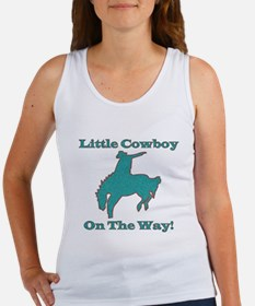 Little Cowboy on the way Women's Tank Top