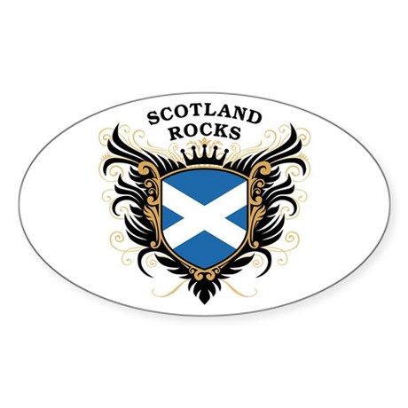 Scotland Rocks Oval Sticker