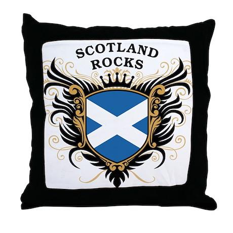 Scotland Rocks Throw Pillow