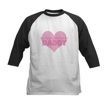 Heart belongs to daddy Kids Baseball Jersey