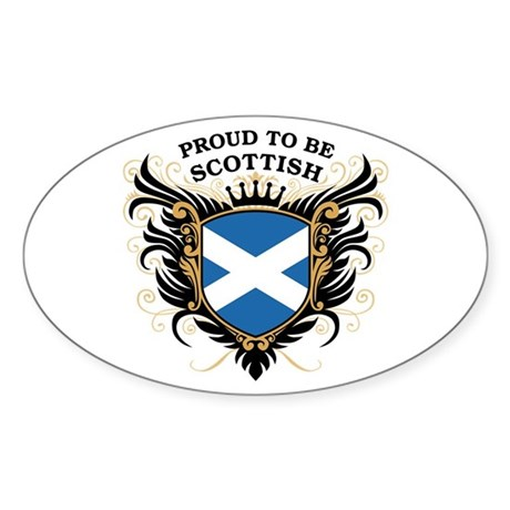 Proud to be Scottish Oval Sticker