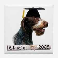 Wirehaired Grad 08 Tile Coaster