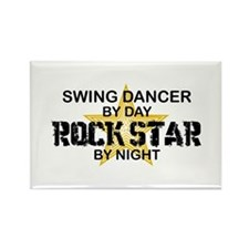 Swing Dancer RockStar Rectangle Magnet