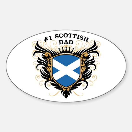Number One Scottish Dad Oval Decal