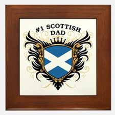 Number One Scottish Dad Framed Tile