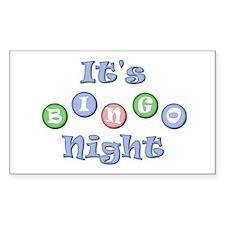 It's Bingo Night Rectangle Decal
