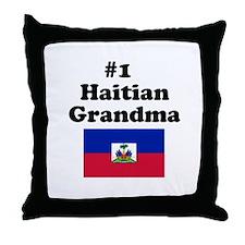 #1 Haitian Grandma Throw Pillow