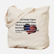 The True Soldier Tote Bag