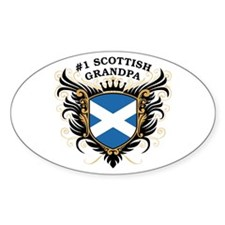 Number One Scottish Grandpa Oval Decal