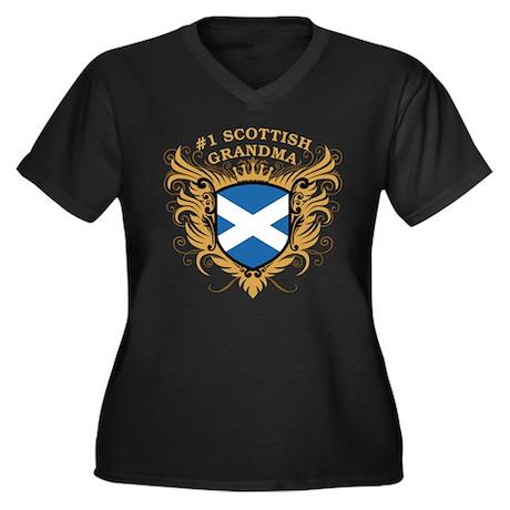 Number One Scottish Grandma Women's Plus Size V-Ne