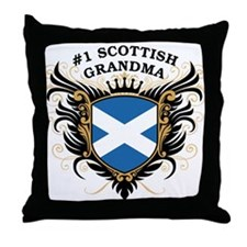 Number One Scottish Grandma Throw Pillow