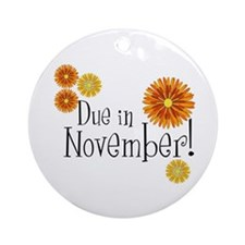 Due in November! Ornament (Round)