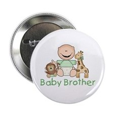 """Critter Friends Baby Brother 2.25"""" Button"""