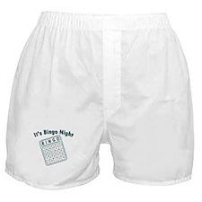 It's Bingo Night Boxer Shorts