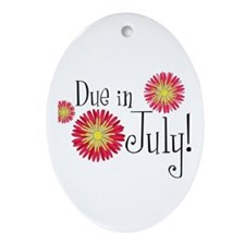 Due in July! Oval Ornament