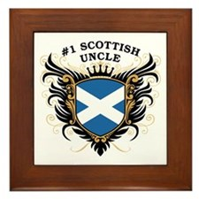Number One Scottish Uncle Framed Tile