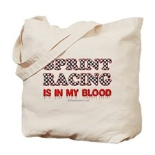 Sprint Racing in blood Tote Bag