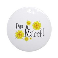 Due in March Keepsake (Round)