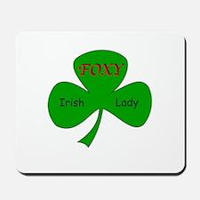Foxy Irish Lady Mousepad
