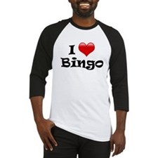 I Love ( Heart ) Bingo Baseball Jersey