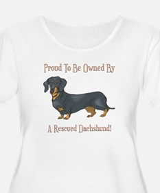 Proudly Owned By A Rescued Dachshund T-Shirt