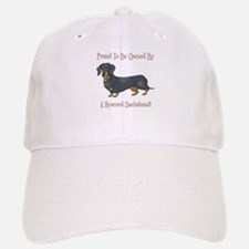 Proudly Owned By A Rescued Dachshund Baseball Baseball Cap