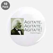 "Frederick Douglass ""Agitate!"" 3.5"" Button (10 pack"