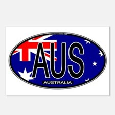 Australia Oval Colors Postcards (Package of 8)