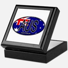 Australia Oval Colors Keepsake Box