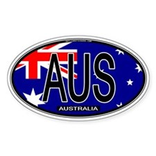Australia Oval Colors Oval Decal