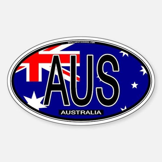 Australia Oval Colors Oval Decal