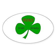 Foxy Irish Granny Oval Decal