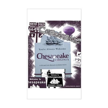 Chesapeake 2 Rectangle Sticker