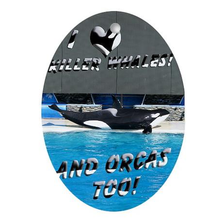 Helaine's Orca (Killer Whale) Ornament (Oval)