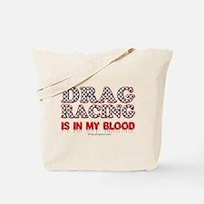 Drag Racing Blood Tote Bag