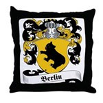 Berlin Family Crest Throw Pillow