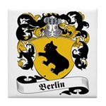 Berlin Family Crest Tile Coaster