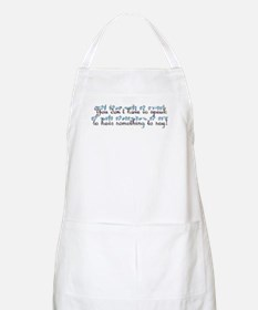 You don't have to speak...teal BBQ Apron