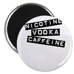 "Nicotine Vodka Caffeine 2.25"" Magnet (100 pack)"