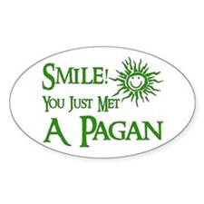 Pagan Smile Oval Decal