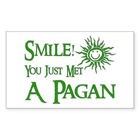 Pagan Smile Rectangle Sticker