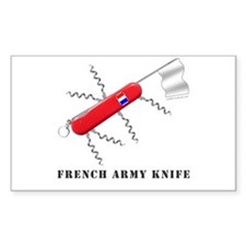 French Army Knife Rectangle Decal