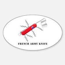 French Army Knife Oval Decal