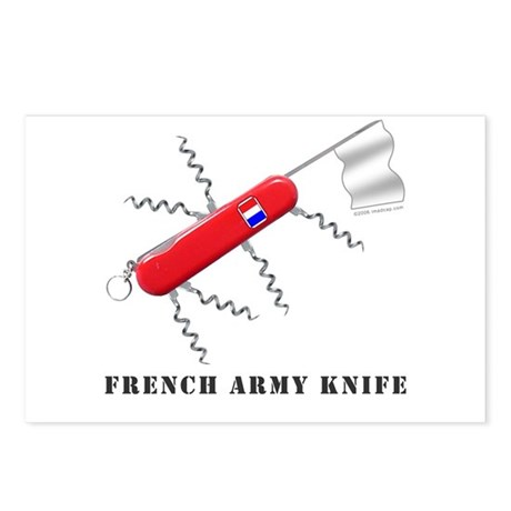 French Army Knife Postcards (Package of 8) by shagtees