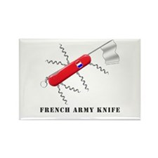 French Army Knife Rectangle Magnet (100 pack)