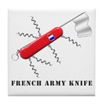French Army Knife Tile Coaster