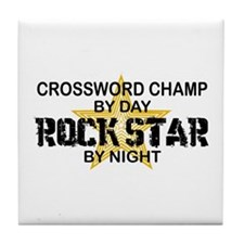 Crossword Champ Rock Star Tile Coaster