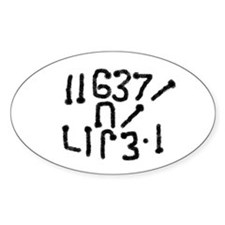 Geek, Get a life! Oval Decal