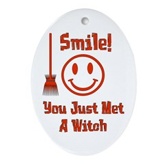 Witch Smile Oval Ornament