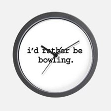 i'd rather be bowling. Wall Clock